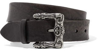 Saint Laurent Textured-leather Belt