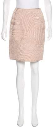 Ralph Rucci Embroidered Pencil Skirt