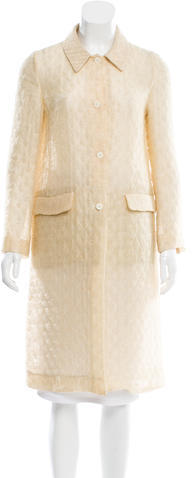 Miu Miu Miu Miu Lightweight Metallic-Accented Coat
