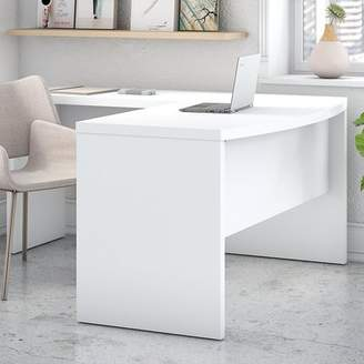 Kathy Ireland Office by Bush Echo Bow Front L-Shaped Computer Desk