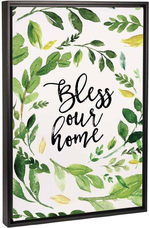 Bless Our Home Wreath (Framed Canvas)
