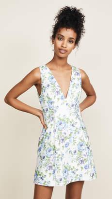 Zimmermann White Wave Lace Up Dress