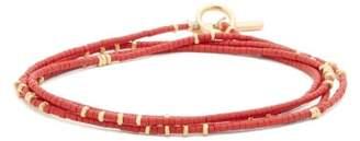 M. Cohen Beaded 18kt Gold Bracelet - Mens - Burgundy