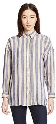 Finamore (フィナモーレ) - (フィナモレ) Finamore ワイドボーダービッグシャツ 981005 - GRACE -LISA 01 NAVY ネイビー 40