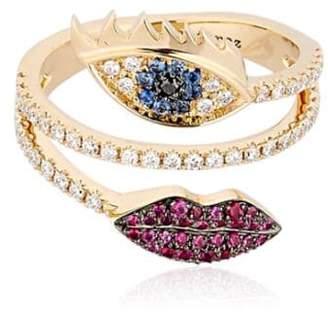 Delfina Delettrez Marry Me Double Lips & Eye Ring