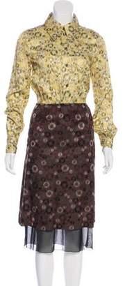 Marc Jacobs Long Sleeve Midi Dress