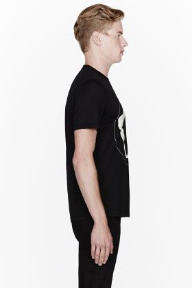 Givenchy Black shark jaw t-shirt