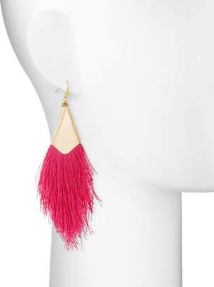 Nakamol Fringe Drop Earrings, Pink