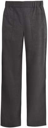 Maison Margiela Straight-leg wool-blend trousers