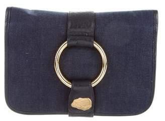 Carlos Falchi Denim Clutch Bag