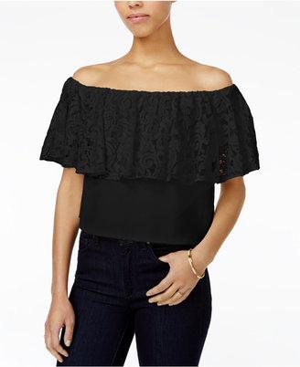 RACHEL Rachel Roy Lace Off-The-Shoulder Top, Only at Macy's $89 thestylecure.com