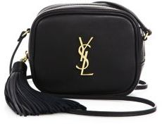 Saint Laurent Saint Laurent Monogram Leather Tassel Blogger Pouch $995 thestylecure.com