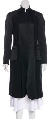 Donna Karan Long Sleeve Long Coat