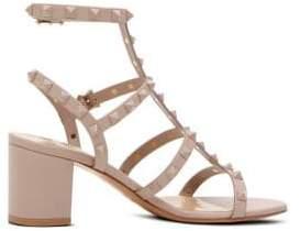 Valentino Rockstud Block Heel Sandals