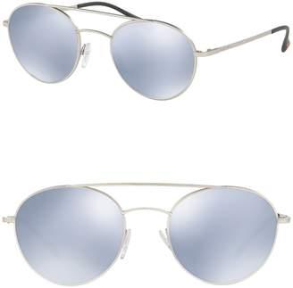 Prada Linea Rossa 51mm Phantos Matte Round Sunglasses