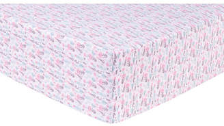 Trend Lab Pastel Painterly Floral Flannel Crib Sheet Bedding