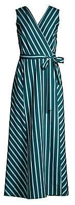 Lafayette 148 New York Women's Siri Mediterranean Stripe Wrap Dress