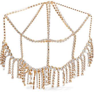 Rosantica Luci Gold-tone Crystal-embellished Fringed Headpiece