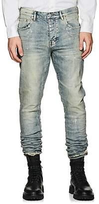 Purple Men's P001 Metallic Slim Jeans - Blue