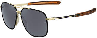Rag & Bone Metal & Acetate Rounded Aviator-Style Sunglasses