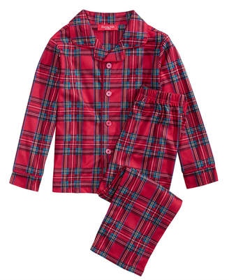 Macy's Family Pajamas Matching Brinkley Plaid Pajama Set, Available in Toddlers and Kids, Created For