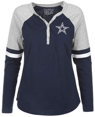 Authentic Nfl Apparel Women's Dallas Cowboys Nilly Long Sleeve T-Shirt