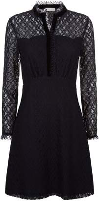 Sandro Sheer Panelled Lace Dress