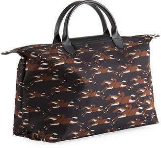 Longchamp Cavalcade Large Top-Handle Tote Bag