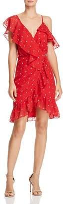 WAYF Afragola Ruffled Faux-Wrap Dress