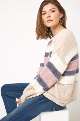 Glam Metallic Stripe Sweater