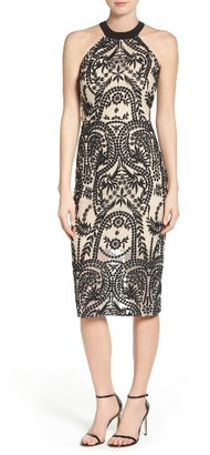 Women's Eci Mesh Halter Midi Dress $198 thestylecure.com