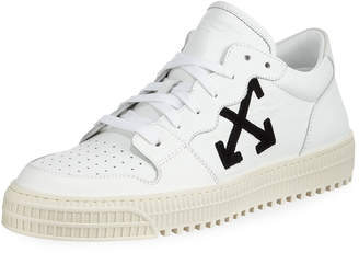 Off-White Off White Men's 3.0 Polo Mid-Top Leather Sneakers