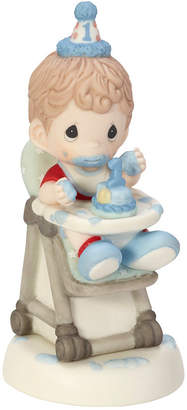 Precious Moments Baby Boy First Birthday Figurine