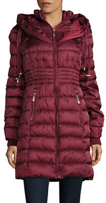 Betsey Johnson Long Puffer Coat $240 thestylecure.com