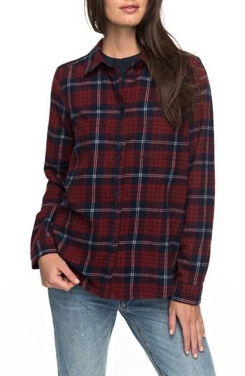 Women's Roxy Heavy Feelings Plaid Shirt