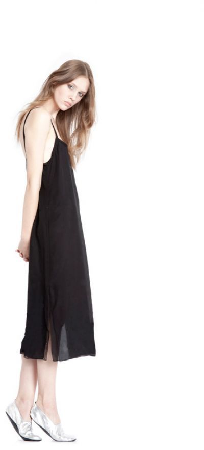L'AGENCE Solid Cami Dress