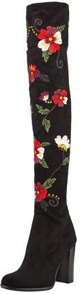 Sam Edelman Vena Over-The-Knee Floral Boot