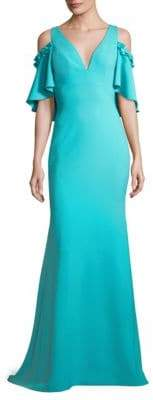 Theia Cold-Shoulder Gown