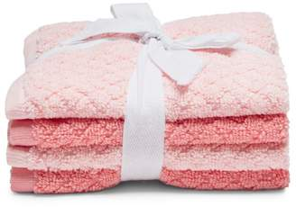 Caro Home Phoebe Washcloths, Set of 4 - 100% Exclusive