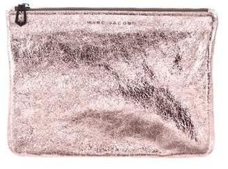 Marc Jacobs Leather Metallic Clutch
