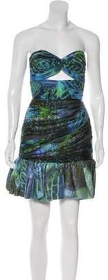 Matthew Williamson Strapless Ruched Dress