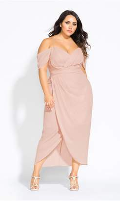 City Chic Citychic Entwine Maxi Dress - pink