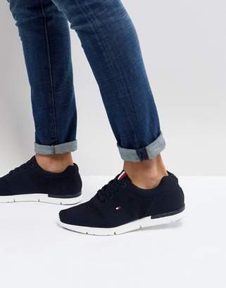 Tommy Hilfiger Tobias Flag Mesh Sneakers In Navy