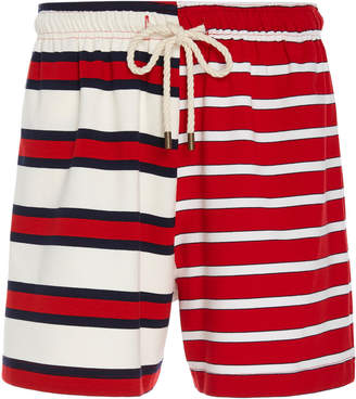 Monse Striped Jersey Mid-Length Shorts
