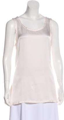 Ann Demeulemeester Sleeveless Silk Blouse