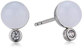 Skagen Women's Sea Glass and Crystal -Tone Stud Earrings