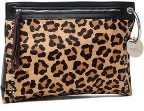 Marc by Marc Jacobs Embellished Leopard-Print Calf Hair And Leather Pouch