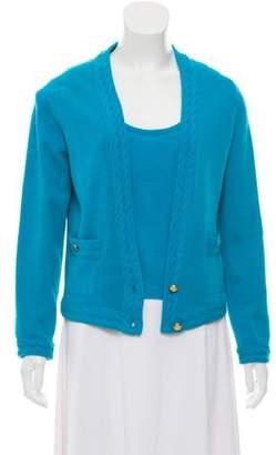 Chanel Cashmere Knit Cardigan Set