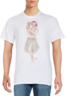 Hurley Hula Girl Graphic Tee $25 thestylecure.com