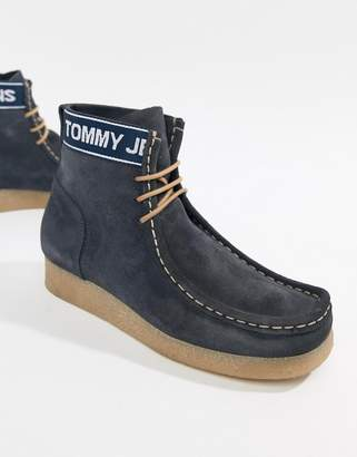 Tommy Jeans suede wallaby boot